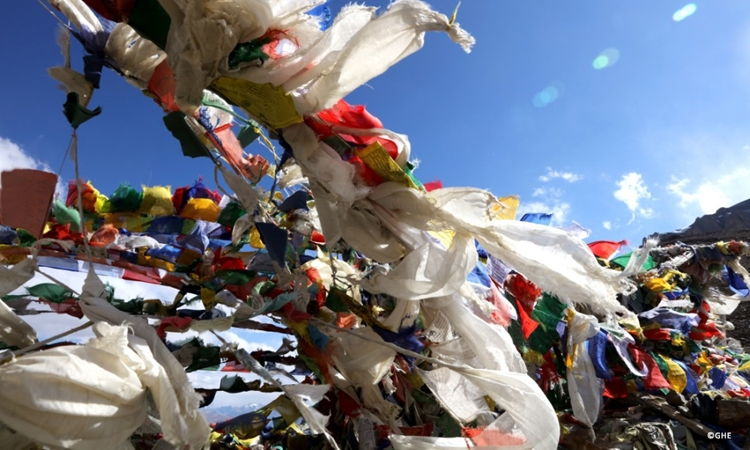 Khataks and prayer flags